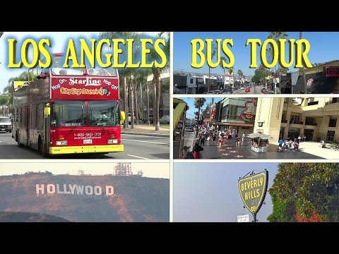 Los Angeles - Sightseeing Bus Tour 4K