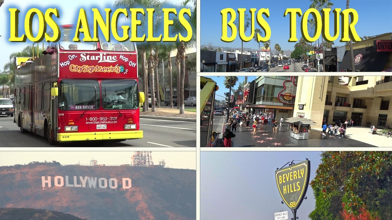 Los Angeles Sightseeing Bus Tour 4k Youtube