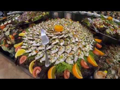 Nubian Village 5* — еда на обед и ужин в ресторане, Шарм Эль Шейх, Египет, 2019, 4K