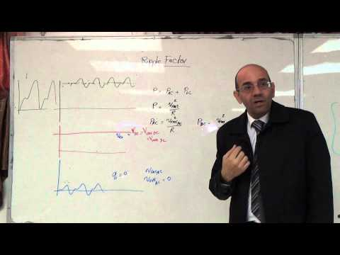 rf: Concept of the ripple factor and formula for it, 9/11/2014