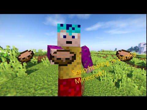 Soup Healing In Vanilla Minecraft With Only One Command Minecraft - Minecraft spielerkopfe erstellen