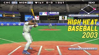 High Heat Baseball 2003 | PS2 Gameplay HD | Chicago Cubs vs. Montreal Expos