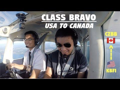 BORDER CROSSING FLIGHT TO CANADA | VFR Flight Following | ATC Audio