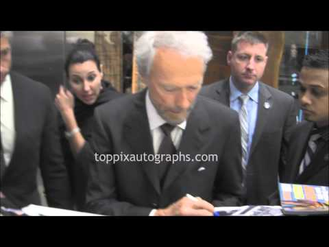 Clint Eastwood - Signing Autographs in Midtown, NYC