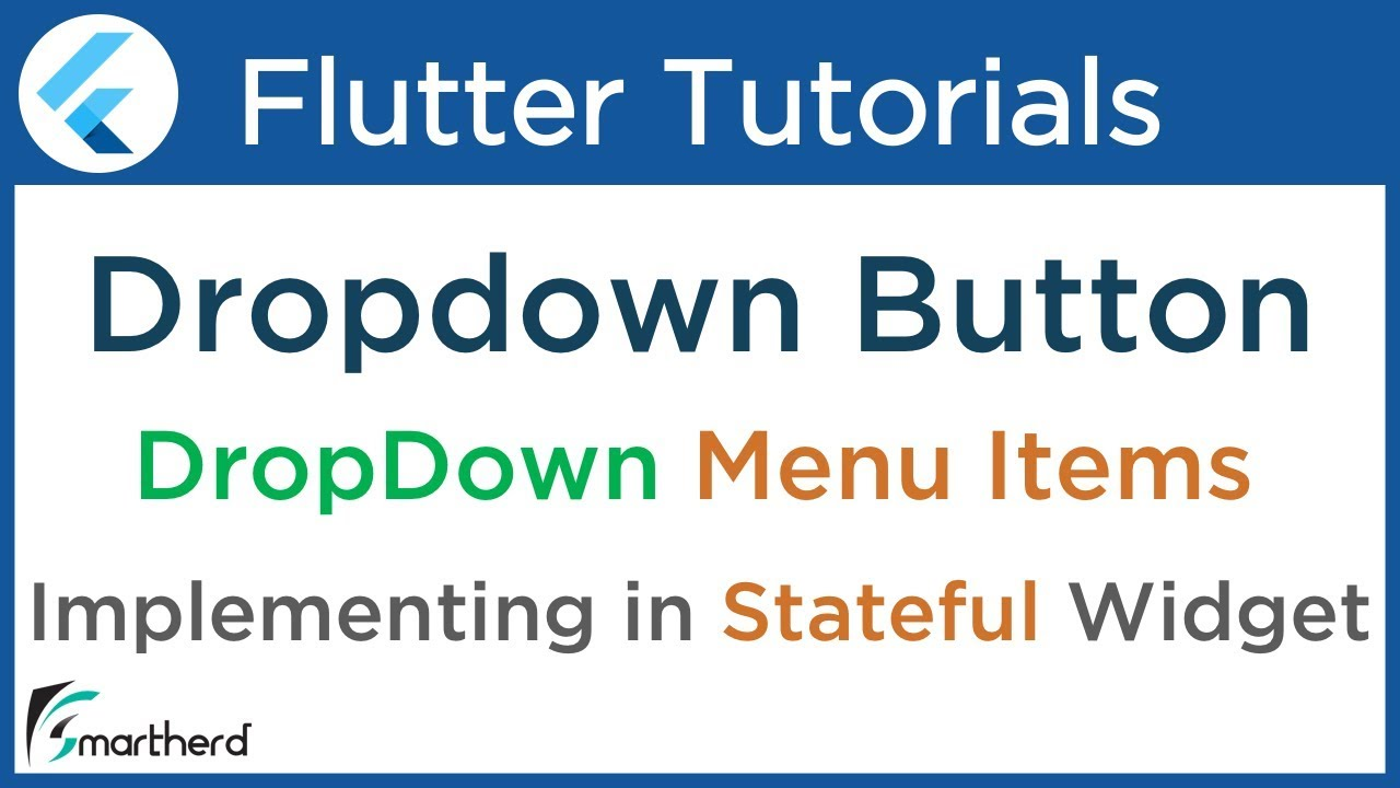 #3 4 Flutter DropdownButton Tutorial: Dropdown Menu Item List for  beginners: Flutter with Dart