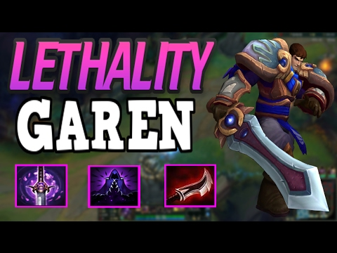 NEW BROKEN FULL LETHALITY BUILD ON GAREN!!! INCREDIBLY FUN BUILD AND OP BUILD!! WITH PENTA KILL!!