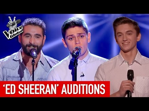 The Voice | AMAZING 'Ed Sheeran' Blind Auditions [PART 1]