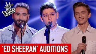 The Voice   AMAZING 'Ed Sheeran' Blind Auditions [PART 1]