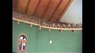 Removing inside roof tiles in Vilcabamba House