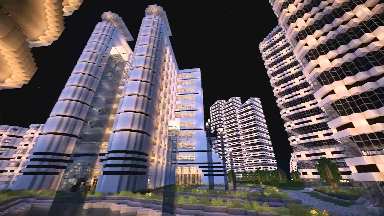 Futuristic city area 73 5 minecraft youtube for How to find a good builder in your area