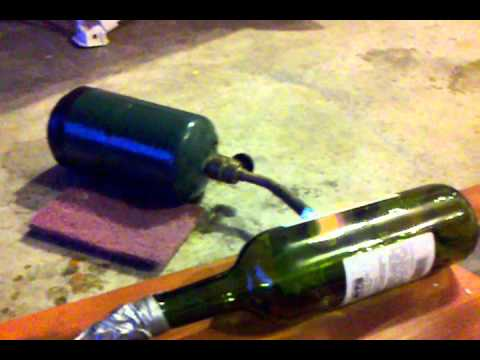 how to make melted wine bottles without a kiln