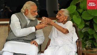Narendra Modi Posts Photos With His Mom, Heeraben Modi
