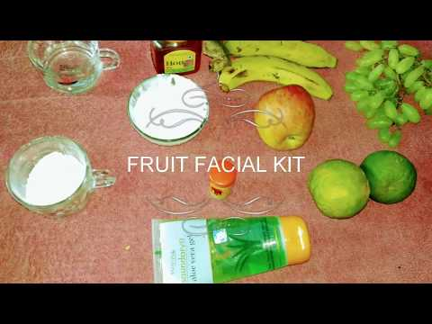How to make your own fruit facial kit || All natural And REAL FRUITS || DIARY OF AN INDIAN DIVA