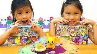 三色動力沙一起蓋沙堡還有跳泥巴水坑玩具開箱一起玩玩具Sunny Yummy Kids TOYs thumbnail