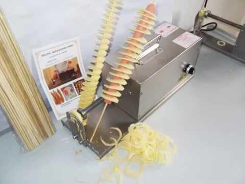 528-3 Chinese Street Food Potato Tornado On A Stick How To Slice Hasselback Potatoes  spiral potato