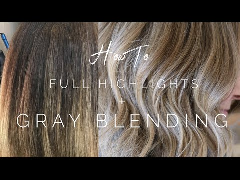 Full Highlights Gray Blending || Hair Tutorial from YouTube · Duration:  4 minutes 53 seconds