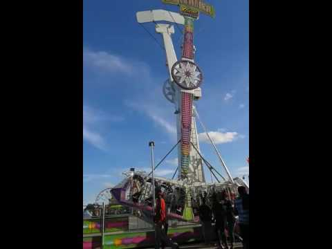 The screamer ride at the Delaware county fair in muncie Indiana