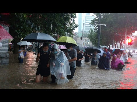 A month's worth of rain fell in an hour in China   Widespread flooding, death toll remains unknown