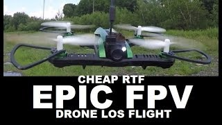 Flytec H825 5.8 ghz FPV racing drone 1st LOS Flight Review