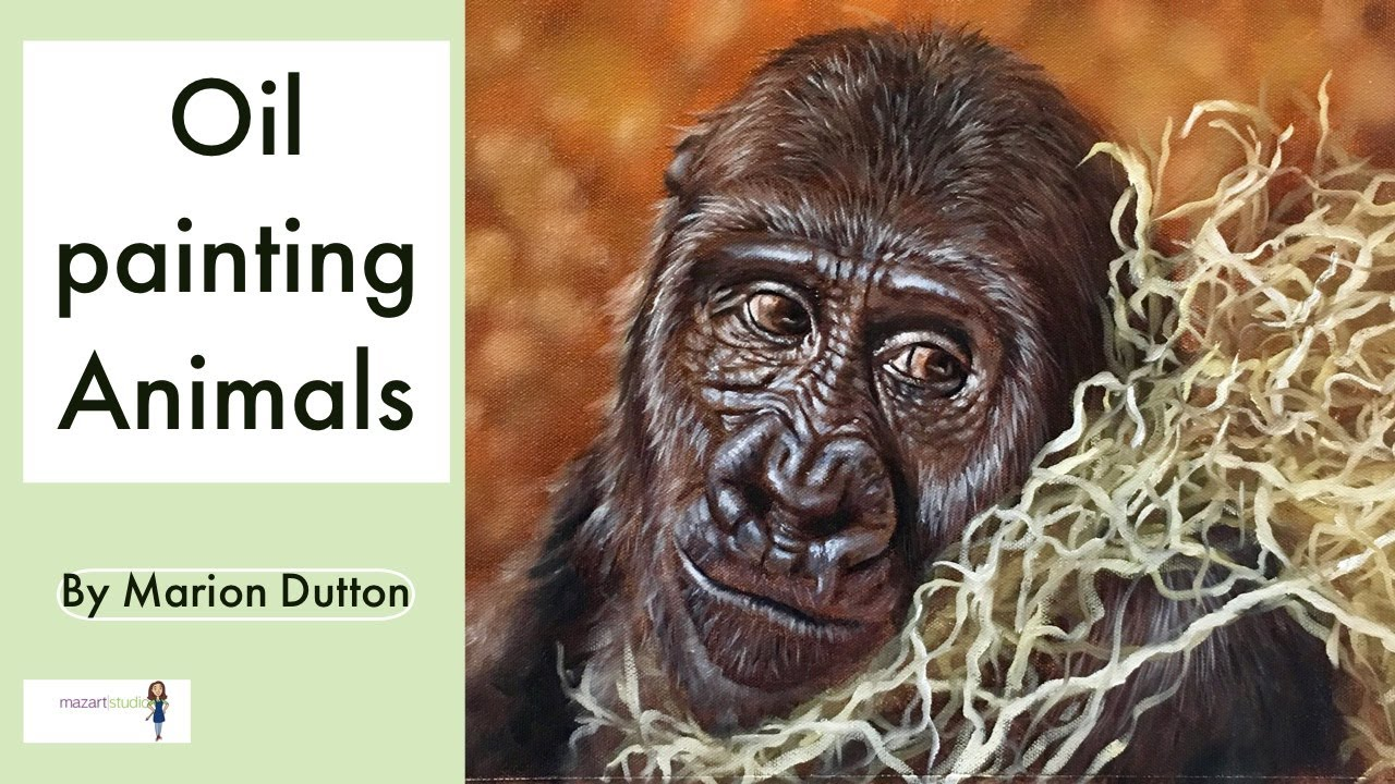 Oil Painting Animals Speed Tutorial Paint With Maz