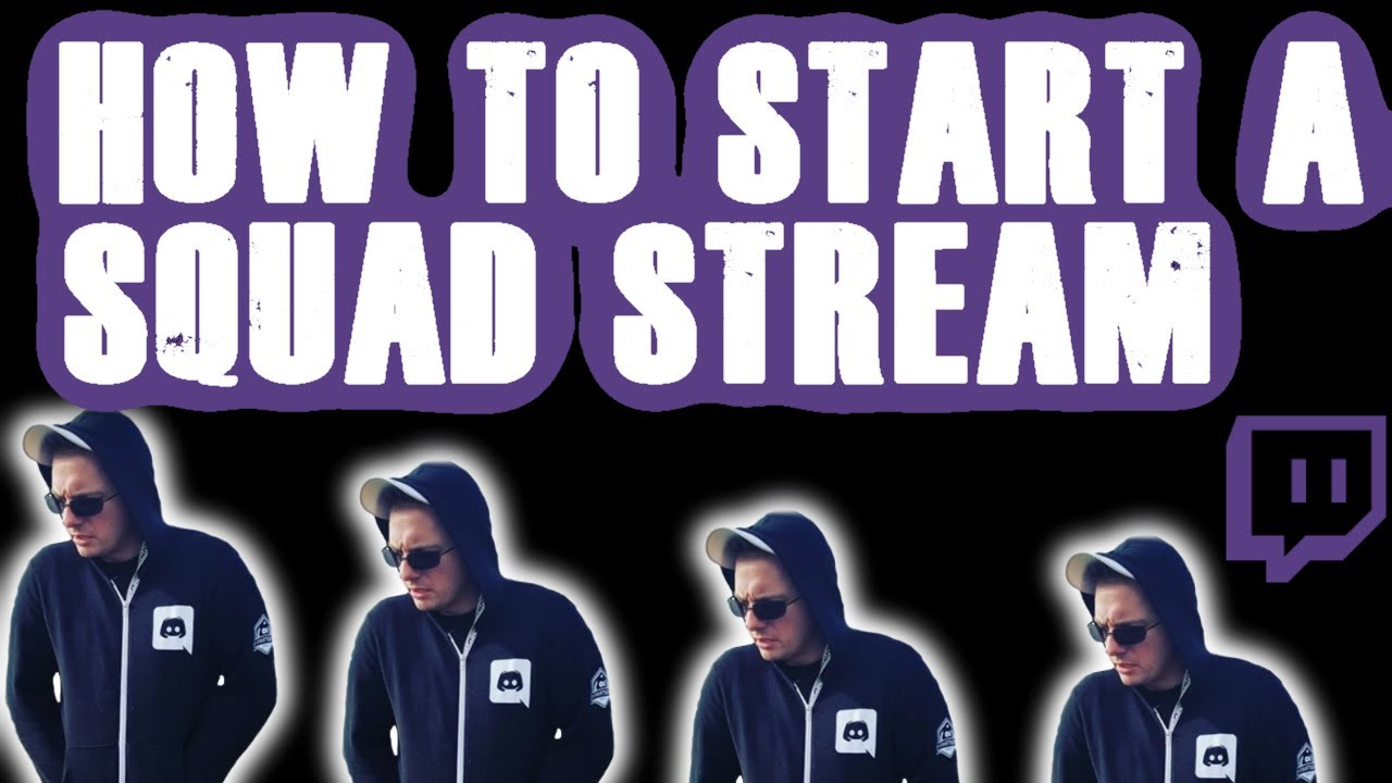 How to start a squad stream on twitch