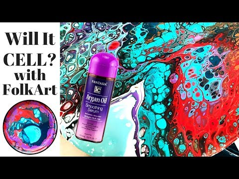 Will It Cell? ARGAN OIL Fluid Painting with ART Supplies from Walmart