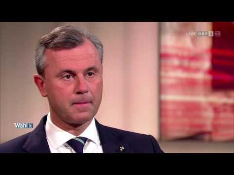 Norbert Hofer vs  Alexander Van der Bellen   Das Duell ORF   1 12 2016