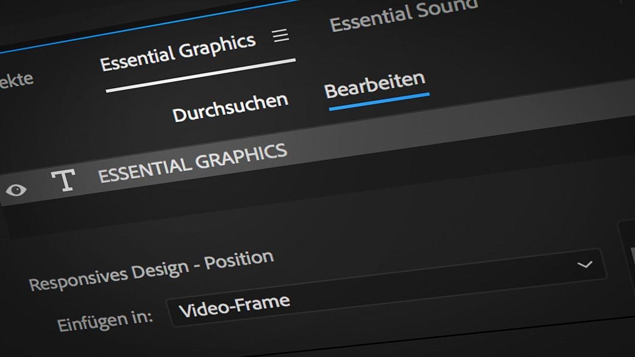 Tutorial zum Essential Graphics Panel in Adobe Premiere Pro CC ...
