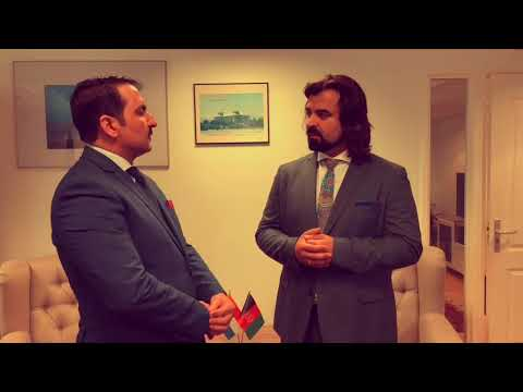 Lawyer Masi Rasul at the OPCW Headquarters in The Hague for the Nowruz event.