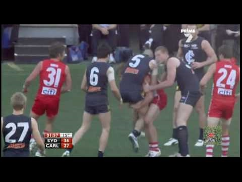 Mumford & Jack | Strong Bump & Bold Tackle  | AFL 2010 Sydney v Carlton 1st Elimination Final