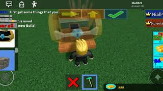 """Playing """"Build a boat"""" in Roblox"""
