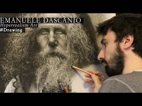 HYPERREALISM! 300 working hours drawing charcoal and graphite! Made by Emanuele Dascanio