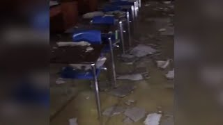 Hurricane Florence rips apart NC high school