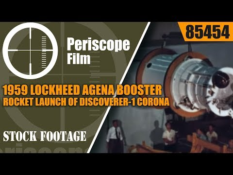 1959 LOCKHEED AGENA BOOSTER ROCKET LAUNCH OF DISCOVERER-1 CO