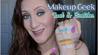 Makeup Geek Haul & Swatches | NEW FOILED SHADOWS