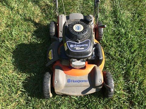 "Husqvarna 21"" Lawn Mower Model 55R21HV Honda Engine - Broken Craigslist Find - August 16, 2015"