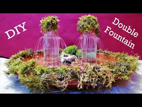 DIY  Double Water Fountain from Bottles