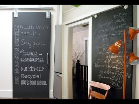 Attractive Chalkboard Barn Doors Ideas - YouTube