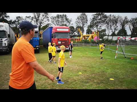 Street Handball played on the grass, Bramming Town Fair