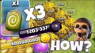 "100$ w/ 1 million dark elixir!! ""Clash Of Clans"" MAXING My BASE!!"