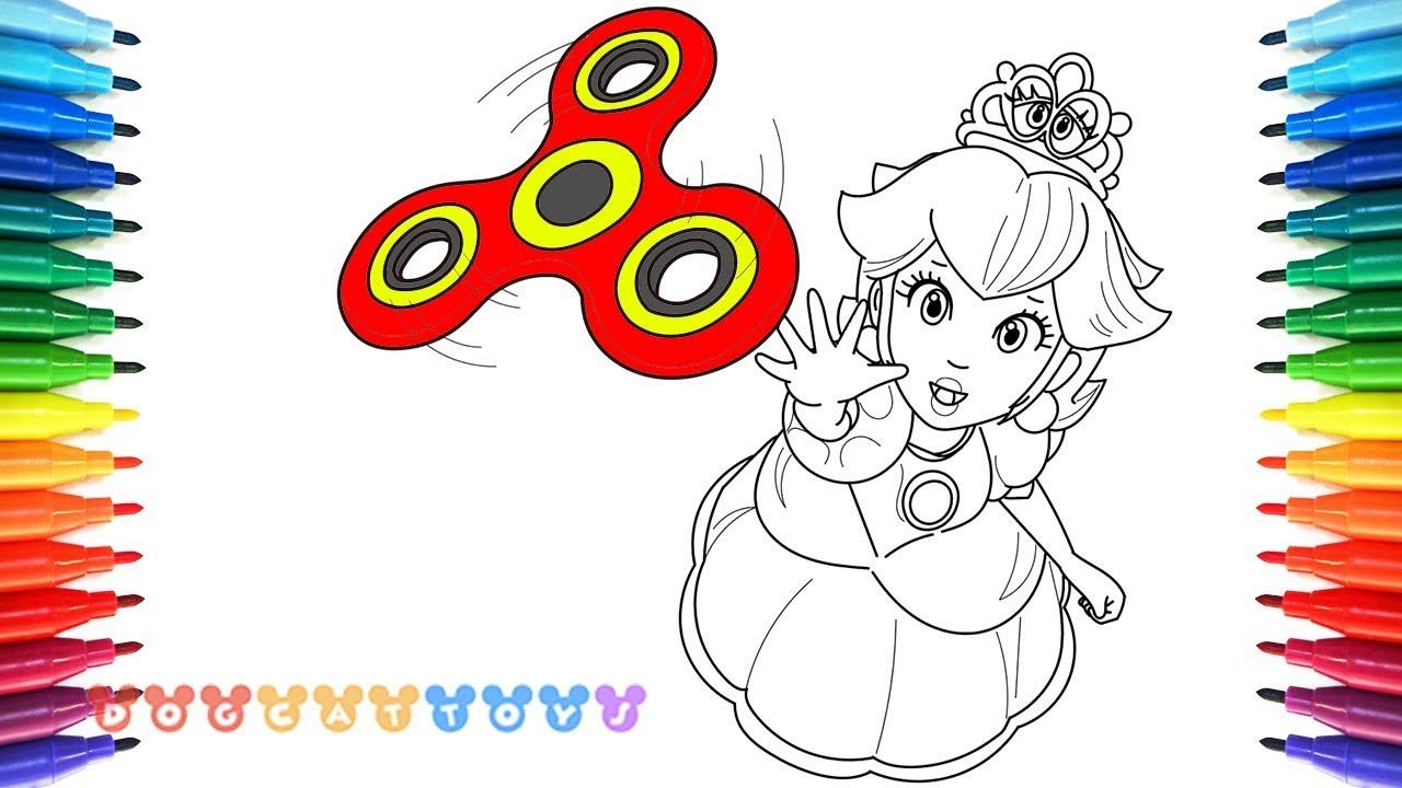 How To Draw Mario Odyssey Princess Peach Fidget Spinner 58