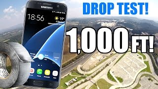 Can Duct Tape Protect a Galaxy S7 from 1,000 FT Drop Test?! THIS IS CRAZY!!