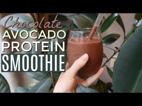 CHOCOLATE AVOCADO PROTEIN SMOOTHIE // low carb, high fat, keto, paleo