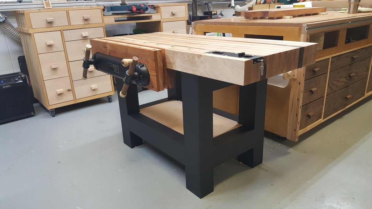 Traditional Workbench For A Power Tool Woodworker Youtube