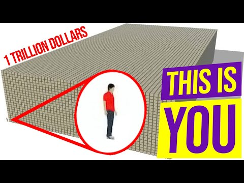 What One Trillion Dollars Looks Like (AND WHAT IT CAN BUY!!)