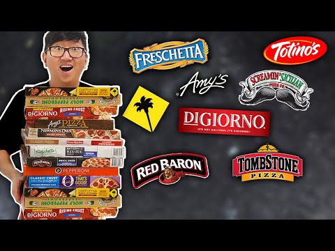 Trying EVERY Frozen Pizza ����in our grocery store
