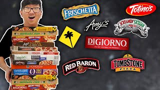 We Eat ONLY Frozen Pizza for 24 Hrs ?? Top 15 Ranked