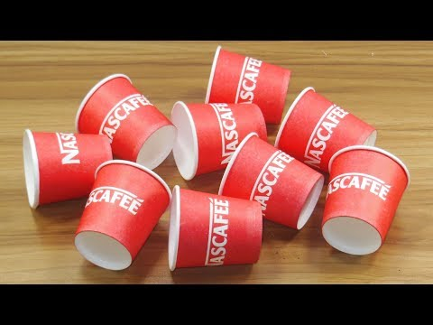 DIY craft ideas from disposable Paper cups | How to reuse Disposable coffee cup