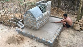 Primitive Technology:Tank -part 4!Extra tank and Yard!Primitive life-wilderness