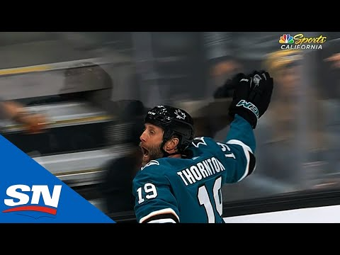 Joe Thornton's 400th career goal with 1000+ assists, a pretty cool moment for him.